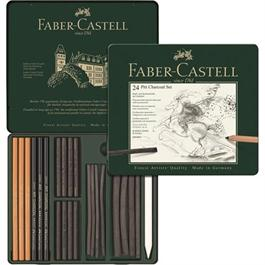 Faber Castell Pitt Charcoal Set of 24 items Thumbnail Image 1