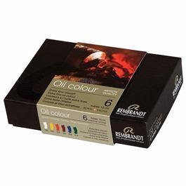 Rembrandt Oil Colour Starter Set 6 x 15m Thumbnail Image 1