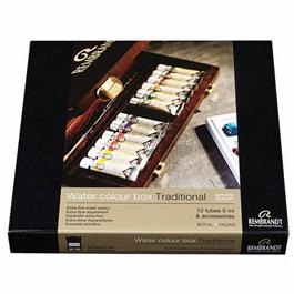 Rembrandt Traditional Water Colour Box of 12 Tubes Thumbnail Image 1
