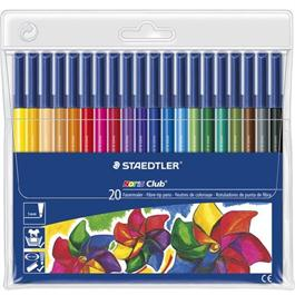 Staedtler Noris Club Fibre Tip Pens Set Of 20 thumbnail