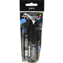 Pebeo 4ARTIST MARKER Set Of 2 Black Pens Thumbnail Image 0