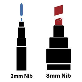 Pebeo 4ARTIST MARKER Set Of 2 Black Pens Thumbnail Image 1