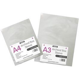 Mapac A3 Archival Box Sleeves Pack Of 10 - No holes thumbnail