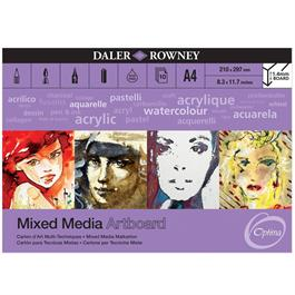 Optima Mixed Media Artboard Pad A4 thumbnail