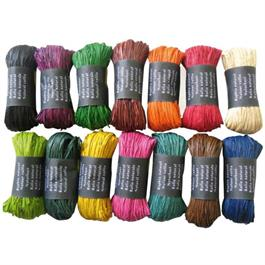 Coloured Natural Raffia 50g Ball thumbnail