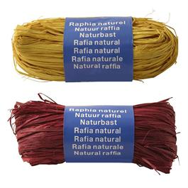 Coloured Natural Raffia 50g Ball Thumbnail Image 1