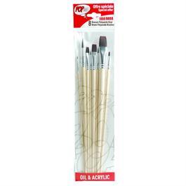 Pebeo Set Of 8 Brown Polyamide Brushes thumbnail