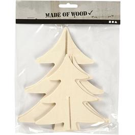 Pack of 2 Assorted Wooden Christmas Trees thumbnail