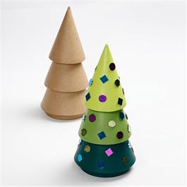 Papier-Mache Christmas Tree
