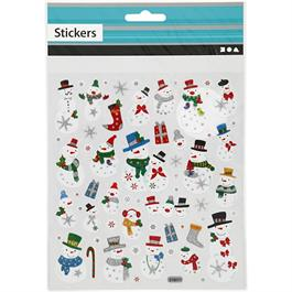 Christmas Stickers - Snowmen thumbnail