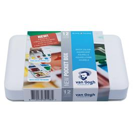 Van Gogh Water Colour Pocket Box 12 Half Pans & Brush
