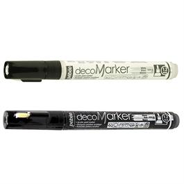 Pebeo decoMarker Set White & Black 1.2mm Thumbnail Image 1