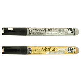 Pebeo decoMarker Set Gold & Silver 1.2mm Thumbnail Image 1