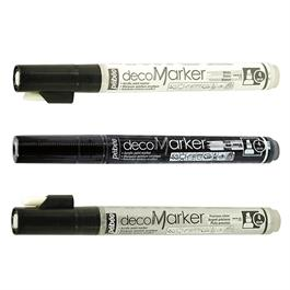 Pebeo decoMarker Set Black, White & Silver 4mm Thumbnail Image 1