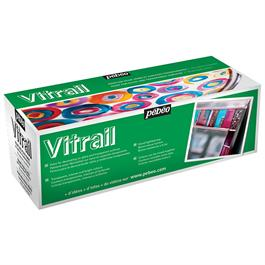 Pebeo Vitrail 10 x 45ml Colours Thumbnail Image 1