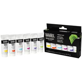 Liquitex Heavy Body Acrylic Vibrant Set 6 x 22ml Thumbnail Image 2