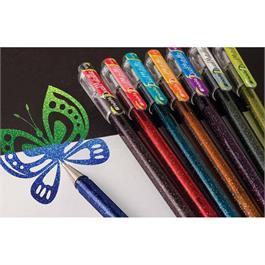 Pentel Hybrid Dual Metallic Gel Rollerball Pens