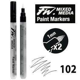 FW Mixed Media Paint Marker Set 1mm Hard Point 102 Thumbnail Image 0