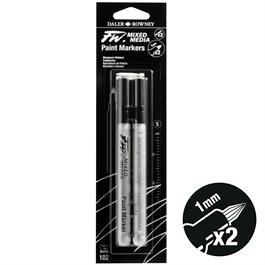 FW Mixed Media Paint Marker Set 1mm Hard Point 102 Thumbnail Image 1