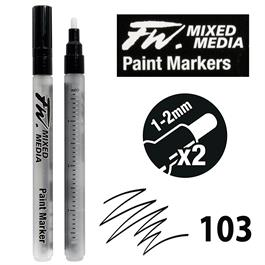 FW Mixed Media Paint Marker Set Small 1-2mm Round 103 thumbnail