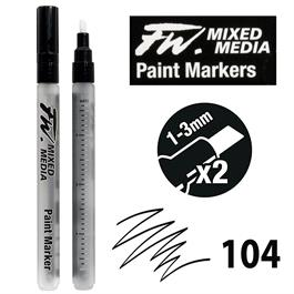 FW Mixed Media Paint Marker Set 1-3mm Chisel 104 Thumbnail Image 0