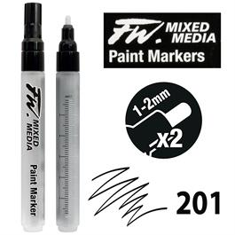 FW Mixed Media Paint Marker Set Medium 1-2mm Round 201 thumbnail