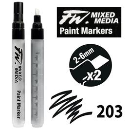 FW Mixed Media Paint Marker Set 2-6mm Chisel 203 thumbnail