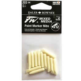 FW Mixed Media Paint Marker Nibs 2-6mm Chisel x 12 thumbnail