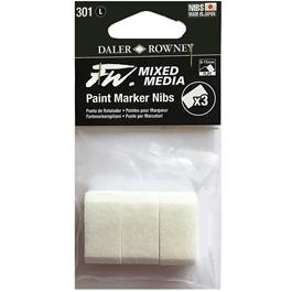 FW Mixed Media Paint Marker Nibs 8-15mm Flat x 3 thumbnail