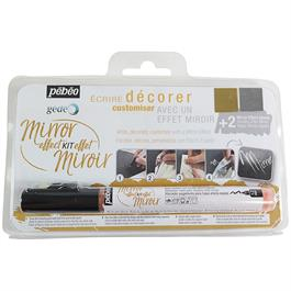 Pebeo Mirror Effect Kit - Gilding Pen And Foils Thumbnail Image 0