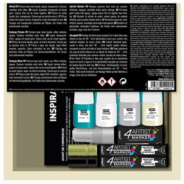 Pebeo Art Panel Kit With 4ARTIST Markers Thumbnail Image 1
