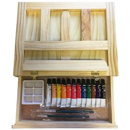 Pebeo Kids Easel Case With 12 x 12ml Acrylic Paints thumbnail