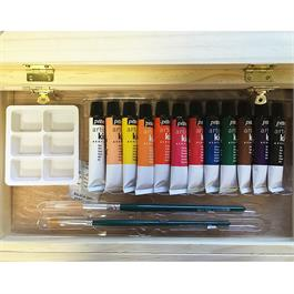 Pebeo Kids Easel Case With 12 x 12ml Acrylic Paints Thumbnail Image 3