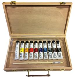 Pebeo Studio Acrylic Paint Starter Kit Wooden Box Thumbnail Image 1