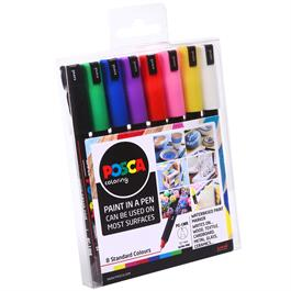 POSCA PC-1MR Starter Pack 8 Pens Thumbnail Image 1