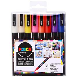 POSCA PC-3M Set Of 16 Pens Thumbnail Image 0