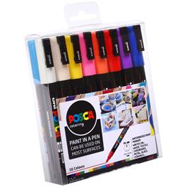 POSCA PC-3M Set Of 16 Pens Thumbnail Image 1