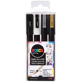 POSCA PC-3M Mono Tones Pack Of 4 Pens Thumbnail Image 0