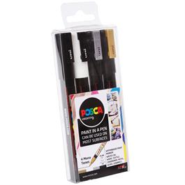 POSCA PC-3M Mono Tones Pack Of 4 Pens Thumbnail Image 1