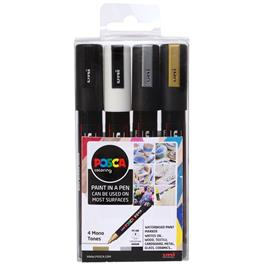 POSCA PC-5M Mono Tones Pack Of 4 Pens thumbnail