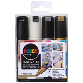 POSCA PC-8K Mono Tones Pack Of 4 Pens thumbnail