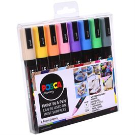 POSCA PC-5M Pastel Set Of 8 Pens Thumbnail Image 1