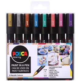 POSCA PC-5M Metallic Set Of 8 Pens thumbnail