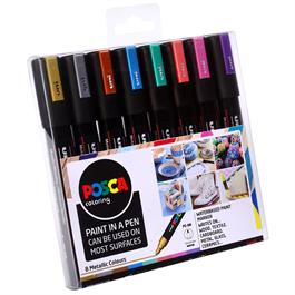 POSCA PC-5M Metallic Set Of 8 Pens Thumbnail Image 1