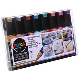 POSCA PC-8K Metallic Set Of 8 Pens Thumbnail Image 1