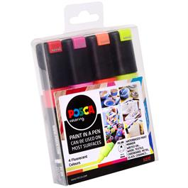 POSCA PC-8K Fluorescent Pack Of 4 Pens Thumbnail Image 1