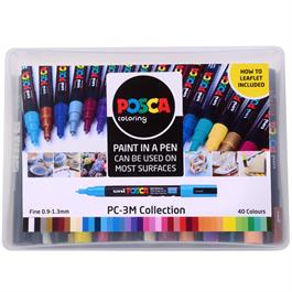 POSCA PC-3M Collection Pack Of 40 Pens Thumbnail Image 0