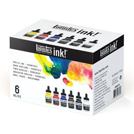 Liquitex Acrylic Ink Essentials Set 6 x 30ml Thumbnail Image 1