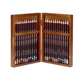 Derwent Coloursoft Pencils Wooden Box of 24 Thumbnail Image 1