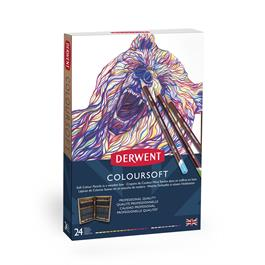 Derwent Coloursoft Pencils Wooden Box of 24 Thumbnail Image 2